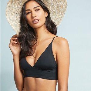 L*space Olivia Black Bikini Top XS